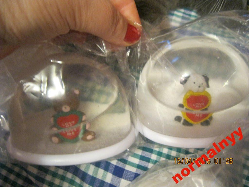 Сувенир настольный игрушка LOVE ME идет шар снег цена за набор=4 фигурки мишка собака ЗАЯЦ белка