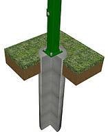 Столб на анкерное крепление 58х38х1.5мм оц+ПВХ 1.8м