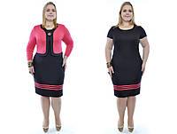 Женский костюм-двойка (болеро+платье) больших размеров №179 48-62 р