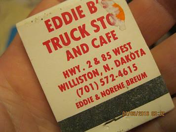 Сувенір коробок упаковка сірники США Williston, North Dakota