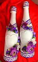 Свадебное украшение шампанского, фото 1