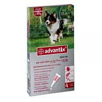 Адвантикс 250 капли от блох и клещей для собак от 10 до 25 кг