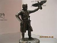 РАСПРОДАЖА фигурка статуэтка войн рыцарь олово металл сокол