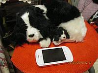 Сувенир игрушка собаки декор КАК ЖИВЫЕ меховые щенок и мама