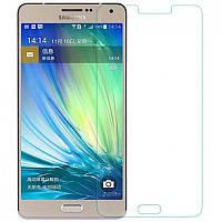 Защитное Стекло на Самсунг Galaxy A7 A700H / A700F Тонкое 0.26 мм гладкие стороны и углы 2.5D
