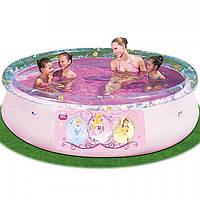 Надувной семейный бассейн Принцессы BestWay 91052, 244х66см