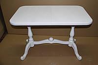 Фабричный стол обеденный+кухня Дуэт 120(+40)х70х75 (белый, бежевый)