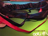 Повязка обруч для причесок франция черная с розовым