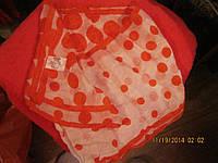 Платок шарф фирменный шарфик красный горох шелк!!