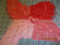 Платок шарф фирменный оттенки красный стильный