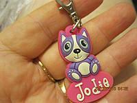 Брелок сувенир котик JODIE кот котенок резина прочная из британии