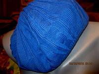 Берет шапка 57-58р фирменный синий женский