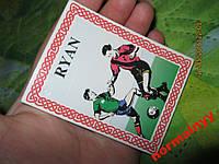 Магнит чистый блокнот Райан футбол сувенир RYAN фанату в колекцию