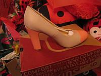 Туфли женские светлые полный 39 р персиковый цвет стелька почти 26см шикарная модель удобные очень