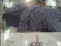 Постельное белье из фланели (байка) La Notte евро размер, фото 1
