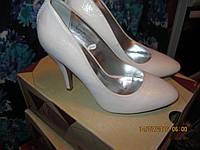 туфли женские белые 37.5р нарядные свадебная коллекция шикарные с блеском