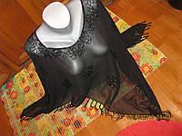 Накидка блуза пончо черная вышивка бисер ЕГИПЕТ