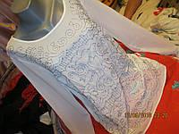 Блуза блузка кофта футболка молочно-белая 50 16 L