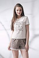 Хлопковая пижама с шортами 051/001