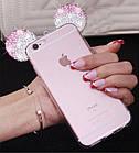 Чехол силиконовый 3D Mickey Mouse Case Pink для iPhone 5/5s, фото 2