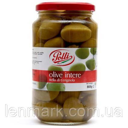 Оливки Polli Olive Intere (bella di Cerignola) с косточками 0,565кг