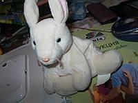 TU мягкая игрушка заяц зайчик кролик шарики в попе
