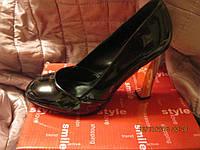 туфли женские черные 36.5р отличная модная устойчивая удобная модель