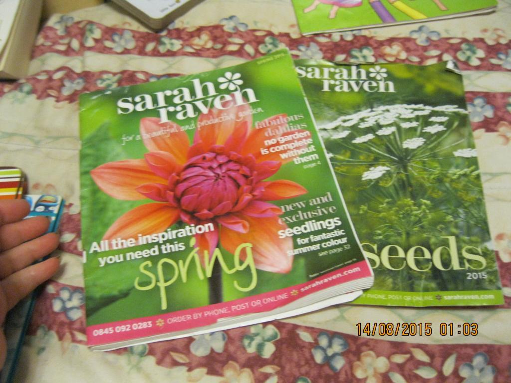 Журнал книга на английском языке SARAH RAVEN растения набо из 2 журналов цена за оба