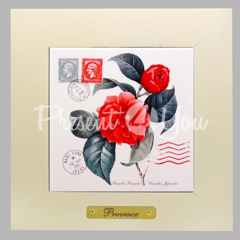 Панно настенное «Прованс. Роза», 15х15, 23х23 см.