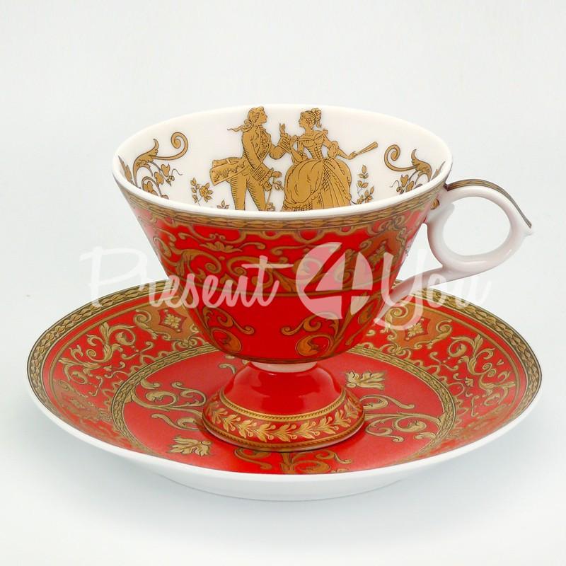 Чашка с блюдцем «Бал», фарфор, d-14,5 см., 200 мл.