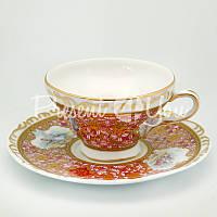 Чашка с блюдцем «Весенний день», фарфор, d-15 см,. 150 мл.