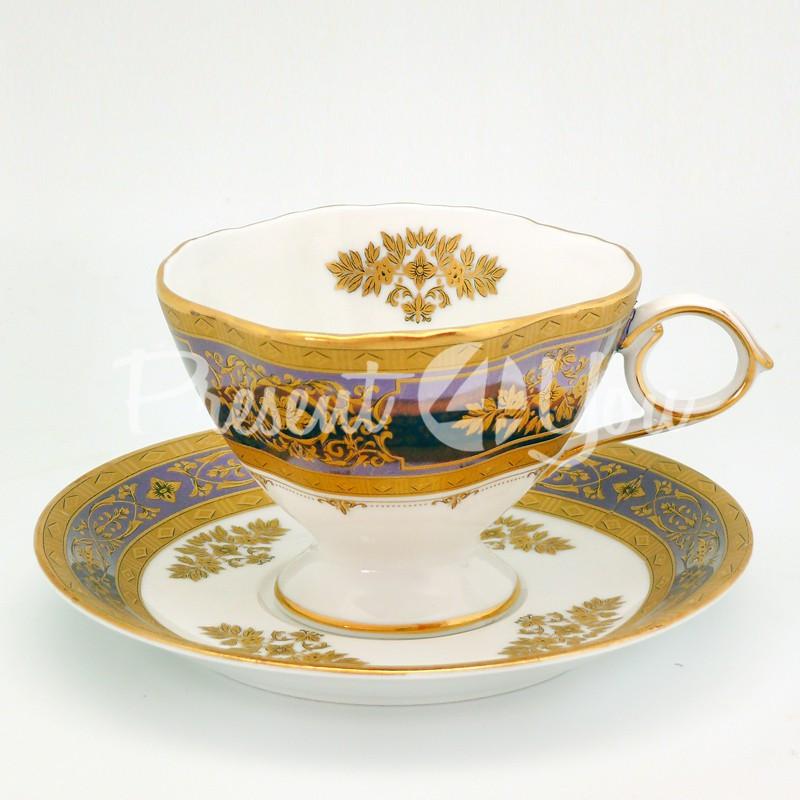 Чашка с блюдцем «Дамский каприз», фарфор, d-14,5 см., 200 мл.