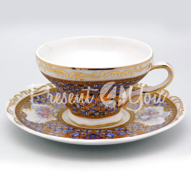 Чашка с блюдцем «Идеал», фарфор, d-15 см., 150 мл.