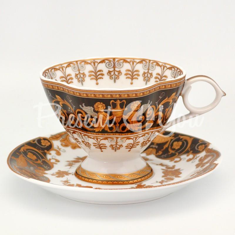Чашка с блюдцем «Грация», фарфор, d-14,5 см., 200 мл.