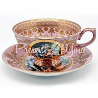 Чашка с блюдцем «Искусство», d-14,5 см., 250 мл.