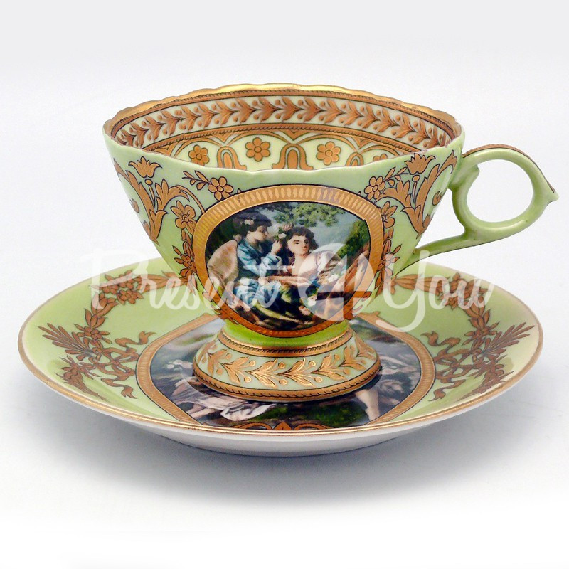 Чашка с блюдцем «Приятность», d-14,5 см., 200 мл.
