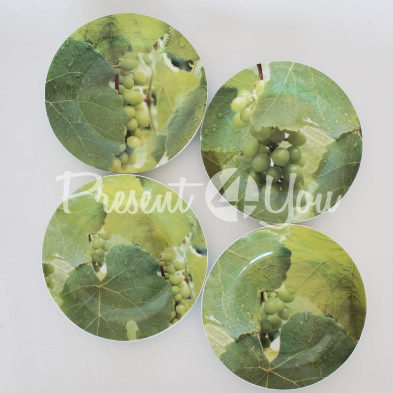 Набор десертных тарелок «Виноград» (4 шт) d-19 см.