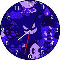 Часы настенные Покемоны синие