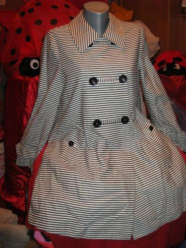 плащ пальто женское полосатый 12 46 М шикарный!
