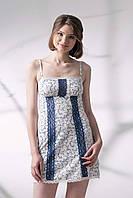 Хлопковая сорочка ELLEN бело/синяя (090/001)