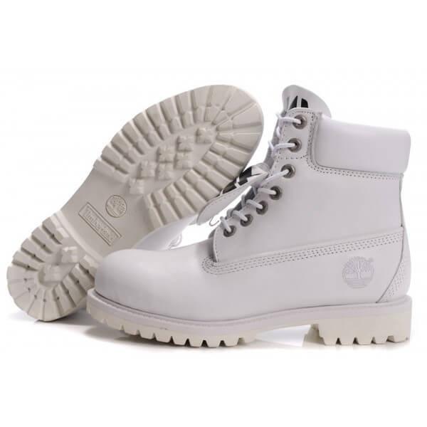 Ботинки в стиле Timberland 6 inch All White мужские тимберленд (Без Меха) 6b5b296bbb1d4
