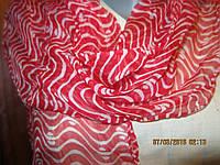 Легкий шарф платок красный фирменный вискоза