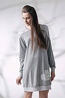 Сорочка с рукавами меланж (087/001)