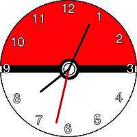 Часы настенные Покемон Го шар логотип