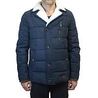 Зимняя мужская куртка пиджак темно-синего цвета ZAKA.