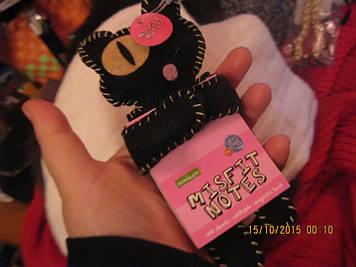 Магніт блокнот кіт чорний одноокий новий фірмовий кішка