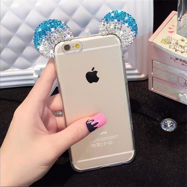 Чехол силиконовый 3D Mickey Mouse Case Blue для iPhone 5/5s