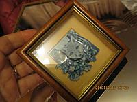 Картина 3D ВОЛК в рамочке СУВЕНИР ручная рбота