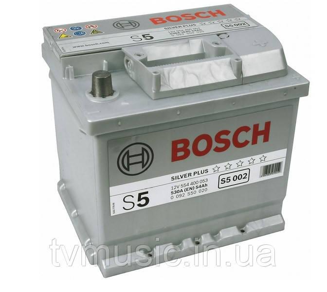 Аккумулятор Bosch S5 002 Silver Plus 54Ah 12V (0092S50020)