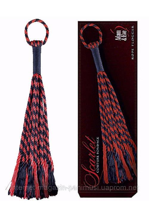 Красная плетка Rope Flogger Adam & Eve
